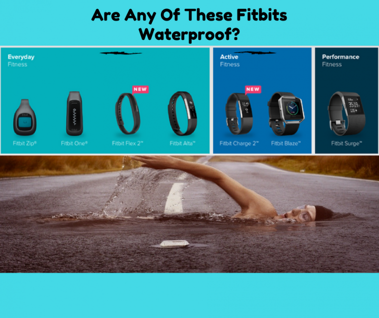 Is the Fitbit Waterproof with a man swimming in the street