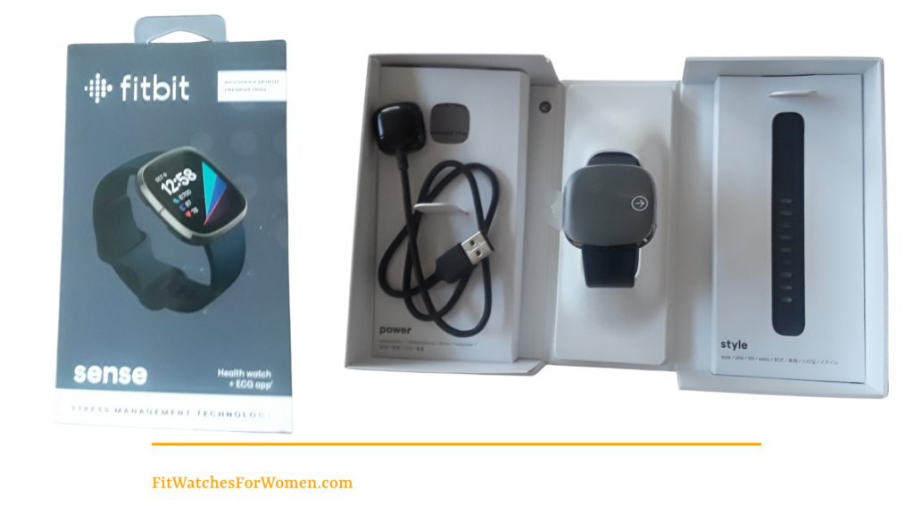 Fitbit Sense Review - Boxed and unboxed